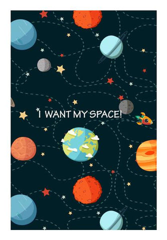 PosterGully Specials, I WANT MY SPACE! Wall Art | Artist : DISHA BHANOT | PosterGully Specials, - PosterGully