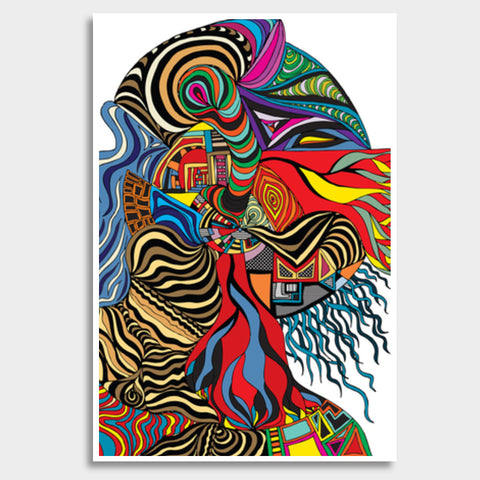 Psychedelic mania! Giant Poster | Artist : Jessica Maria