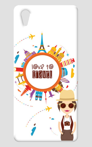The Traveller Girl! One Plus X Cases | Artist : Mitali Jadia