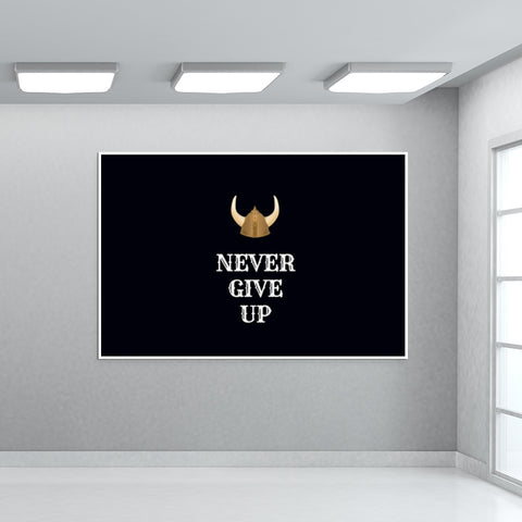 Never Give Up Giant Poster | Artist : Pallavi Rawal