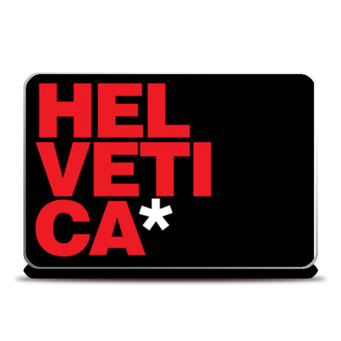 Laptop Skins, Simply Helvetica Red & Black Laptop Skins | Artist : Keepcalm Prints, - PosterGully