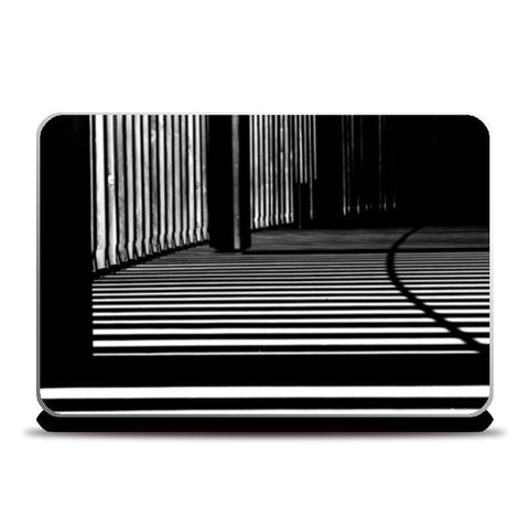 Black and White Architecture Pattern Laptop Skins | Artist : Aditya Gupta