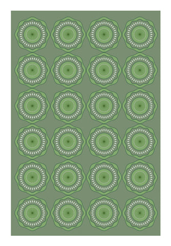 Green Floral With Green Pattern Art PosterGully Specials