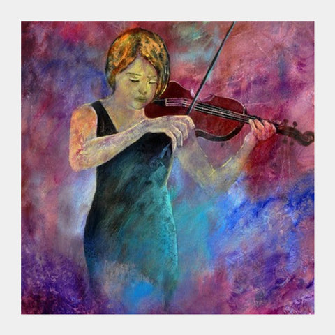 Violinist 67 Square Art Prints PosterGully Specials
