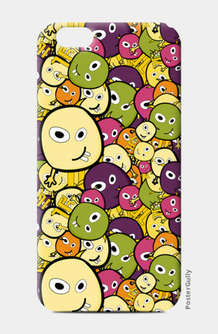 Doodle characters pattern iPhone 6/6S Cases | Artist : Designerchennai