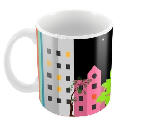 My city in the night Coffee Mugs | Artist : Pallavi Rawal