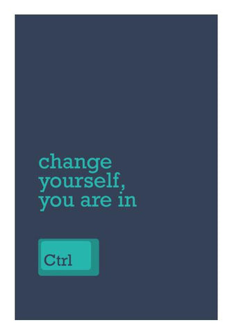 PosterGully Specials, Change Yourself Wall Art | Artist : Danish Prakash, - PosterGully