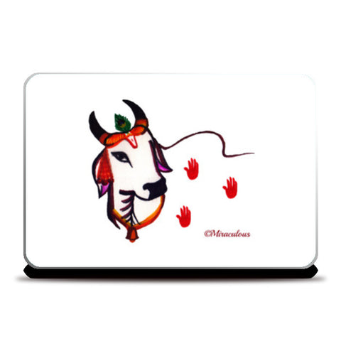 Gaiya | The adorable Indian Cow Laptop Skins | Artist : Miraculous