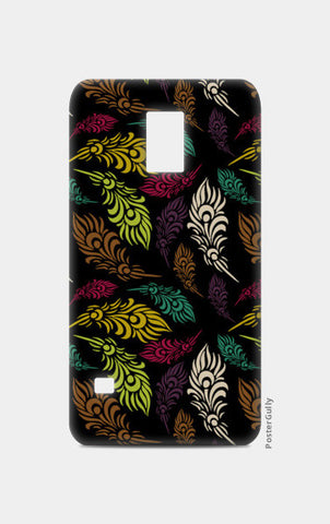 Seamless hand drawn vector leaves  Samsung S5 Cases | Artist : Designerchennai