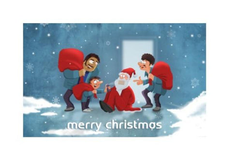 PosterGully Specials, Merry Christmas Wall Art | Artist : Tejeshwar Prasad | PosterGully Specials, - PosterGully