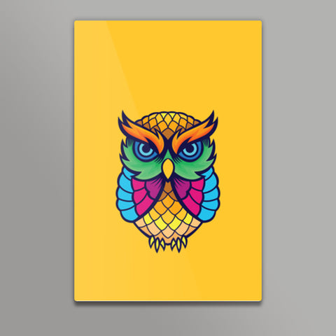 Colorful Owl Metal Prints | Artist : Inderpreet Singh