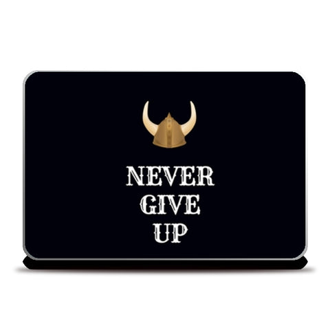 Never Give Up Laptop Skins | Artist : Pallavi Rawal