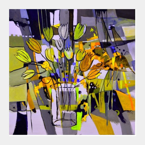 Still Life Yellow Flowers Square Art Prints PosterGully Specials