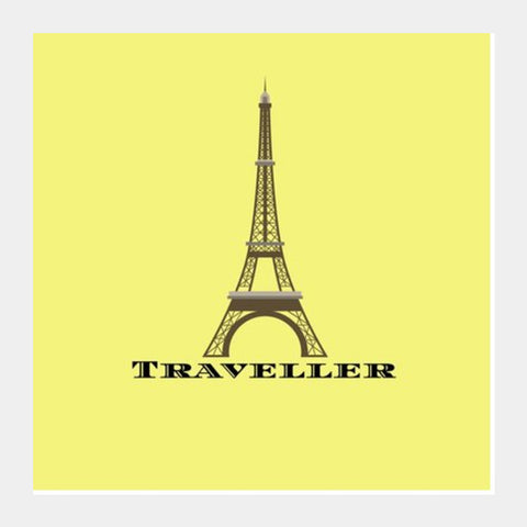 TRAVELLER Square Art Prints | Artist : Pallavi Rawal