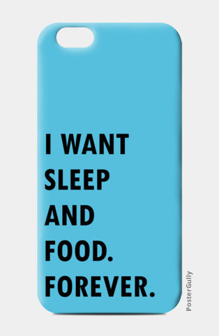 SLEEP AND FOOD. iPhone 6/6S Cases | Artist : Shruti aggarwal
