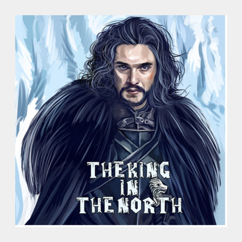 the king in the north Square Art Prints | Artist : chaitanya kumar