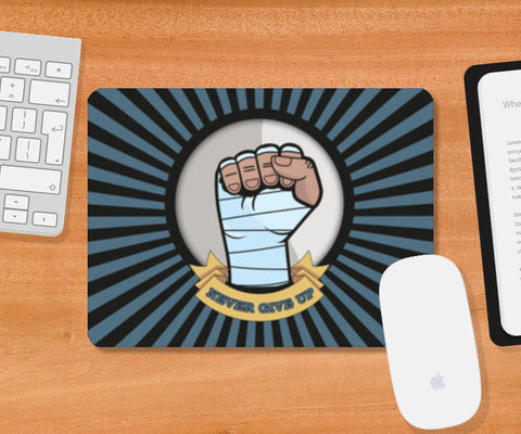 never give up Mousepad | Artist : Himanshu Sood