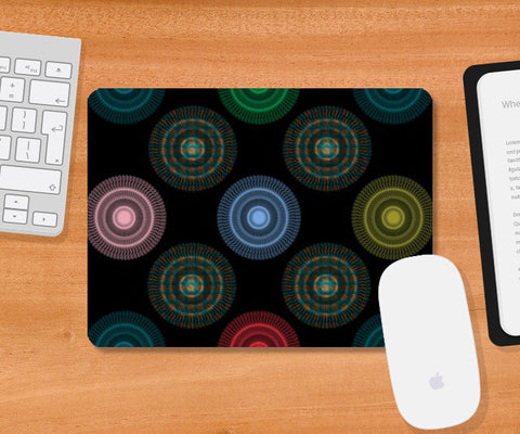 Mousepad, Colorful Circles Geometric Design  Mousepad | Artist : Seema Hooda, - PosterGully