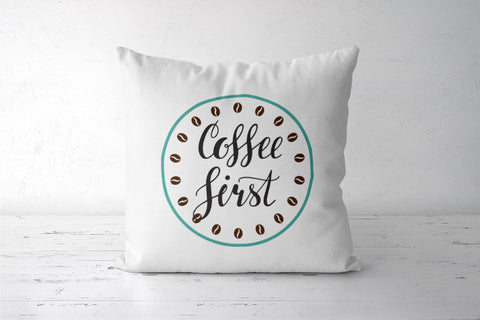 Coffee First Cushion Covers | Artist : Colour me expressive
