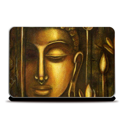 Laptop Skins, Golden Buddha Laptop Skin | Artist: Raji Chacko, - PosterGully