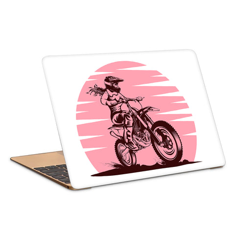 Lady Rider Bullet Artwork Laptop Skin