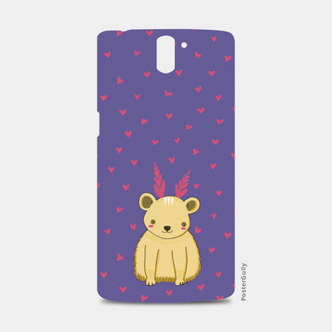 Cute Bear Pattern One Plus One Cases | Artist : Prajakta Rao
