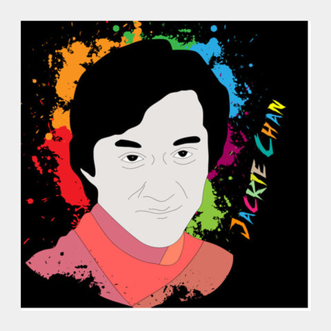 Jackie Chan Square Art Prints PosterGully Specials
