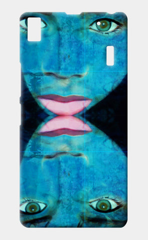 True Perception - Blue Eyes Pink Lips Lenovo A7000 Cases | Artist : Rameshwar Chawla