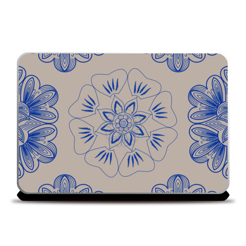 Gold Flower Laptop Skins | Artist : Tiny Dots