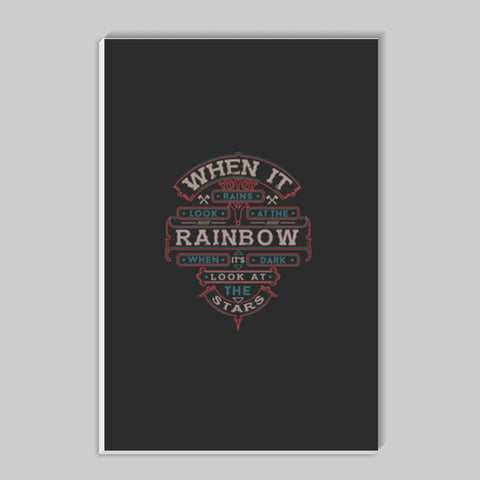 When It Rains Look At The Rainbow, When It's Dark Look At The Stars Stick Ons | Artist : Inderpreet Singh