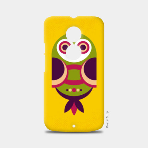 Unique geometric owl on yellow Moto X2 Cases | Artist : Designerchennai