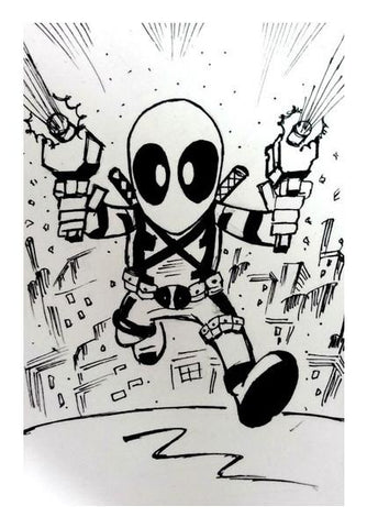 PosterGully Specials, Chibi Deadpool Wall Art | Artist : Aastha Pruthi, - PosterGully