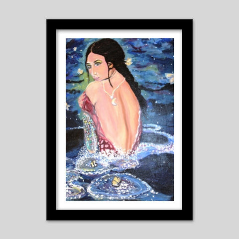 Bollywood Mermaid Love Premium Italian Wooden Frames | Artist : the scribble stories
