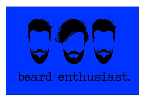 Beard Enthusiast Wall Art  | Artist : Ginita Sahni