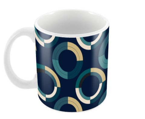 Fashionable 3d circle pattern Coffee Mugs | Artist : Designerchennai