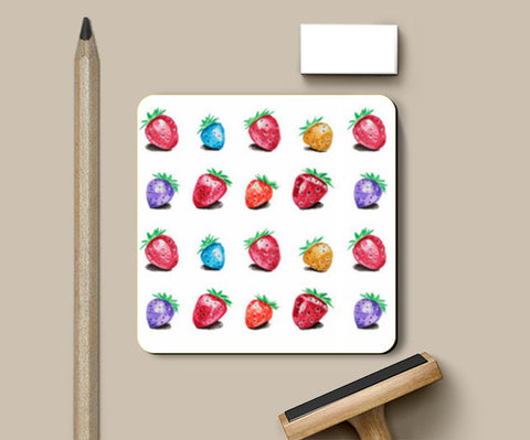 Coasters, Strawberries Coasters | Artist : Anuja Katti, - PosterGully