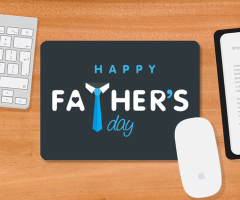 Father's Day With Tie And Love Symbol | #Father's Day Special  Mousepad | Artist : Creative DJ