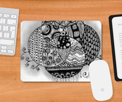 The Doodled Earth Mousepad | Artist : Nishita Jain