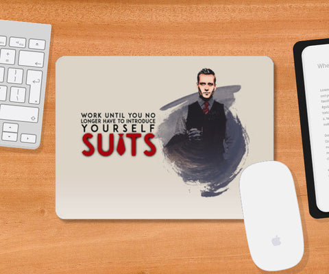 Suits | Harvey Specter | Quote Mousepad | Artist : Vivid Corner