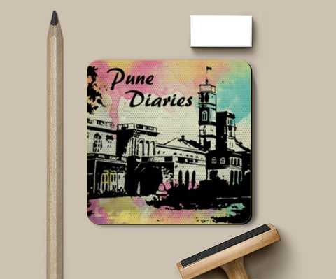 Coasters, Pune Diaries 4 Coasters | Artist : Mosaik, - PosterGully