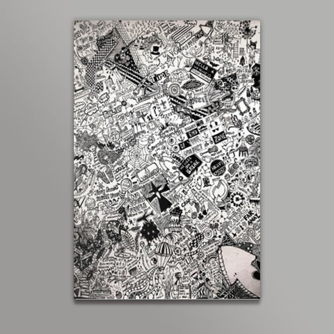 Endless doodle 2 Metal Prints | Artist : Sukanya Chakraborty