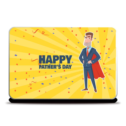 Super Dad With Superhero Look Father's Day | #Father's Day Special  Laptop Skins | Artist : Creative DJ