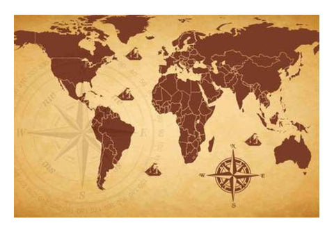 World Map Wall Poster Wall Art  | Artist : Inderpreet Singh