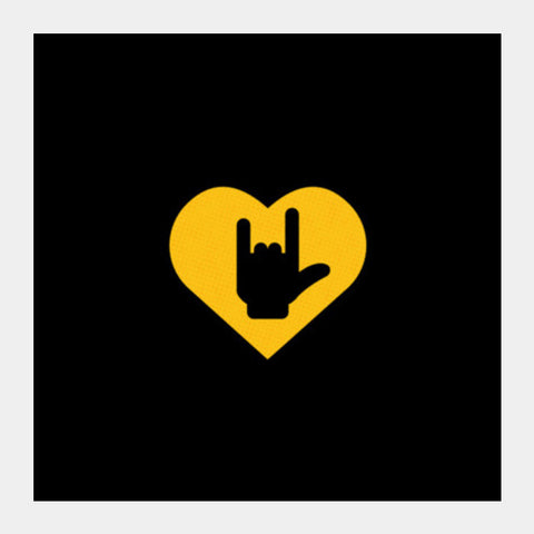 Love Metal  Horns Up Square Art Prints PosterGully Specials