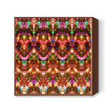 Colorful Sparkling Lights Festive Digital Holiday Background Square Art Prints | Artist : Seema Hooda
