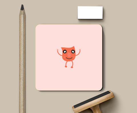 Little orange cartoon vector design Coasters | Artist : Mani Selvam