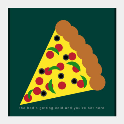 Heart Wants Pizza Square Art Prints | Artist : Aishwarya Tandon