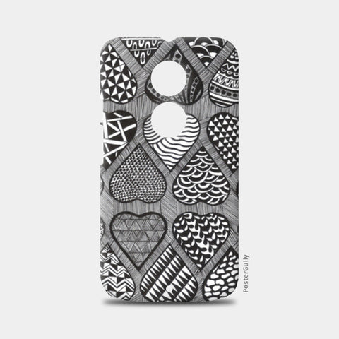 Prints in Hearts Moto X2 Cases | Artist : Aniket Mitra