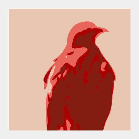 Square Art Prints, Abstract Eagle Red Square Art | Artist : Keshava Shukla, - PosterGully
