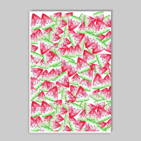 Watermelon Slices Fruit Pattern Kitchen Decor Stick Ons | Artist : Seema Hooda